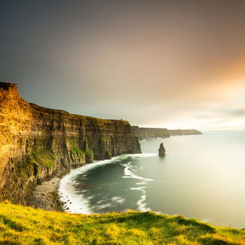 Michael Gissane Photography Irish Photographer Cliffs of Moher Golden Skies