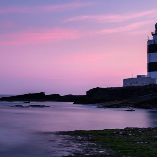 Michael Gissane Photography Ireland Hook Head Pink sky