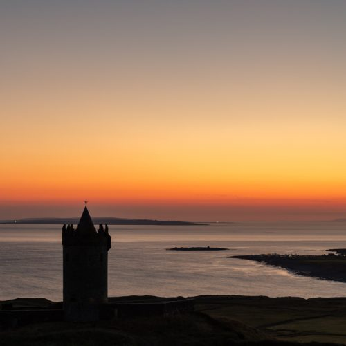 Michael-Gissane-Photography-Ireland-Doonagore-Castle-Doolin-Fire-in-the-Sky