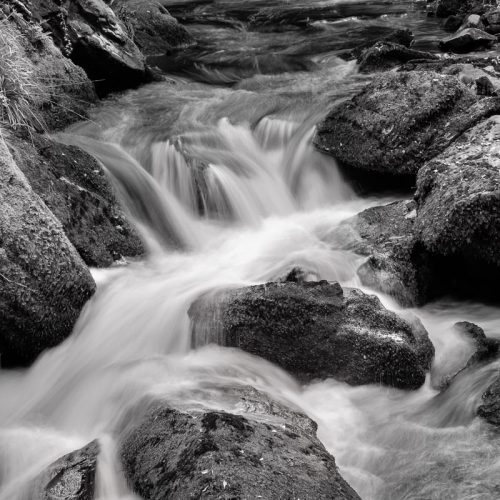 Michael-Gissane-Photography-Ireland-monochrome-waterfall-west-kerry