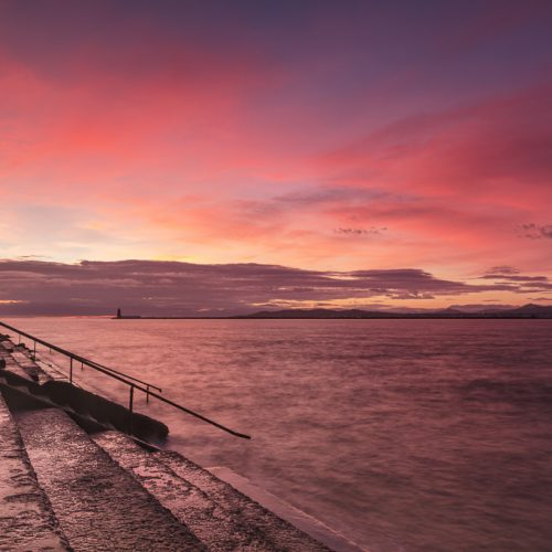 Michael-Gissane-Photography-Ireland_north_bull_wall_clontarf_dublin_seascape-Firey-Sunrise Dublin-Bay