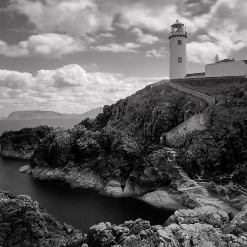 Michael-Gissane-Photography-Ireland-Landscape-wildatlanticway-coast-atlantic-seascape-waves-cliffs-rockyshore-shore-beach-seascape-loveireland-beautifulireland-travel-blackandwhite-photography-roughseas-donegal-fanad-lighthouse-headland-northcoast
